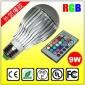 RGB球泡 E27 .B22.GU10.E14七彩RGB��X球泡 10W霸�馇蚺� �F�
